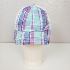 Adidas Blue Purple Plaid Baseball Hat